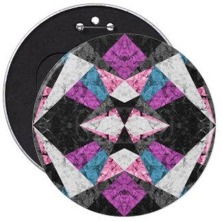 Knöpfen Sie geometrischen Marmorierunghintergrund Runder Button 15,3 Cm