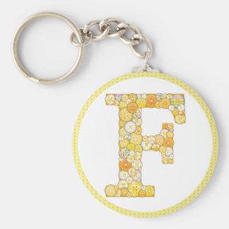 Knöpfen Sie Schlüsselkette des Buchstabe-F Schlüsselanhänger