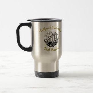 Knospen der besten Freunde des Kaffees Halifax u. Reisebecher