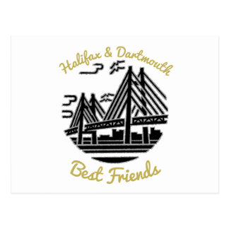 Knospenpostkarte bester Freunde Halifaxes u. Postkarte