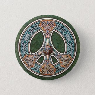 Knüpfarbeit-Friedenszeichen-Knopf Runder Button 5,1 Cm