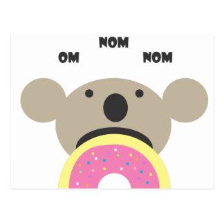 Koala-Krapfen-Diät Postkarte