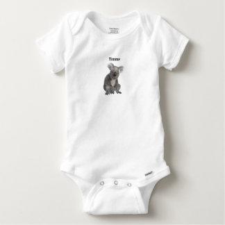 Koala streichelt personalisiertes baby strampler