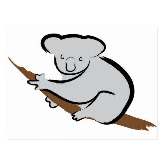 Koalabär im Baum Postkarte