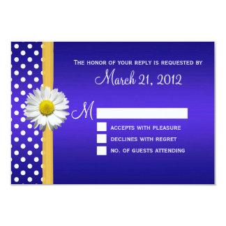 Kobalt und gelbe Gänseblümchen-Hochzeit UAWG Karte 8,9 X 12,7 Cm Einladungskarte