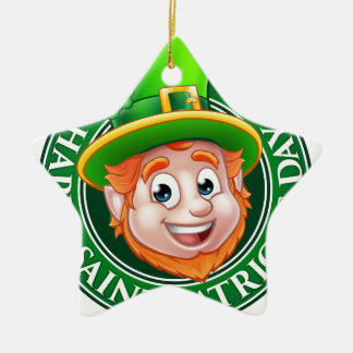 Kobold-Zeichen Cartoon-St. Patricks Tages Keramik Stern-Ornament