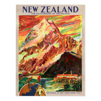 Koch-Vintages Reise-Plakat Neuseelands Mt. Postkarte