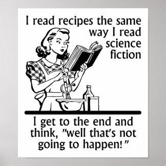 Kochen des Fiktions-lustigen Plakats Poster