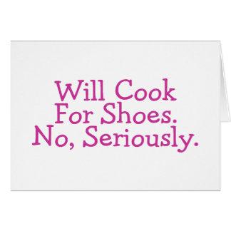 Kocht für die Schuhe, die ernsthaft keine sind Karte