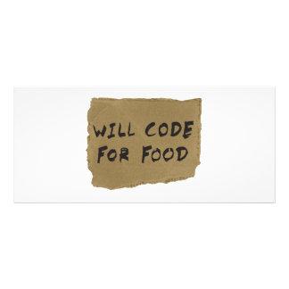 Kodiert für Nahrung Individuelle Werbe Karte