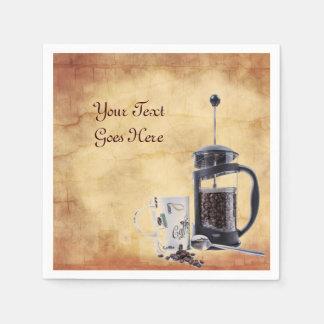 Koffein-heftiges Verlangen Papierservietten