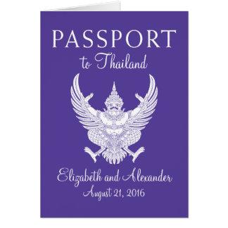 KOH Samui Thailand Hochzeits-Pass Mitteilungskarte