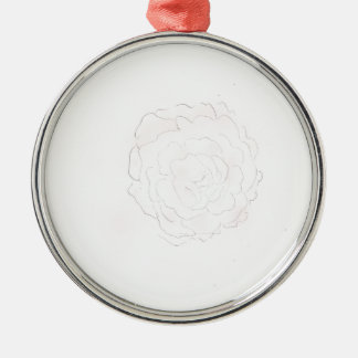 Kohl-Rosen-Entwurf Silbernes Ornament