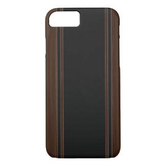 Kohlenstoff-Faser u. dunkler hölzerner iPhone 7 iPhone 8/7 Hülle