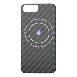 Kohlenstoffatom mit Kohlenstoff-Faser-Hintergrund iPhone 8 Plus/7 Plus Hülle