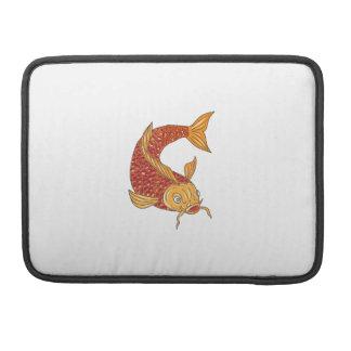Koi Nishikigoi Karpfen-Fische, die hinunter das Sleeve Für MacBook Pro