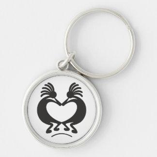 Kokopelli für Valentinstag Schlüsselanhänger