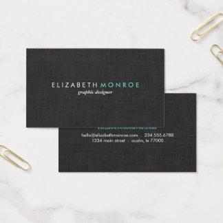 Koksgraue Leinenbeschaffenheits-glattes einfaches Visitenkarte