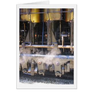 Kolben mit Dampf Grußkarte