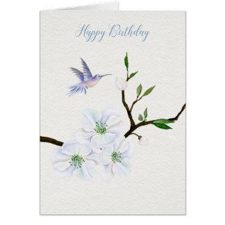 Kolibri-alles Gute zum Geburtstag mit Grußkarte