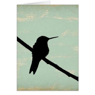 Kolibri Blau Schmutz, Gute Besserung Grußkarte