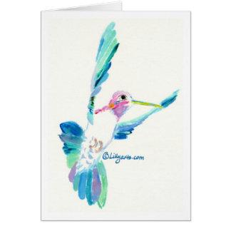 Kolibri-Flug-Kunst-Malerei-Karte Grußkarte