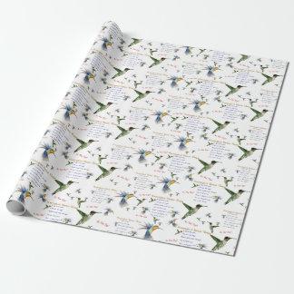 Kolibri-Nektar-Rezept-Geschenk-Verpackung Geschenkpapier
