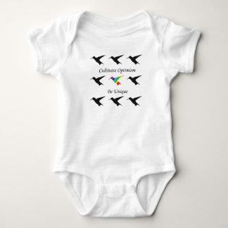 "Kolibri-T-Shirt ""kultivieren Optimismus "" Baby Strampler"