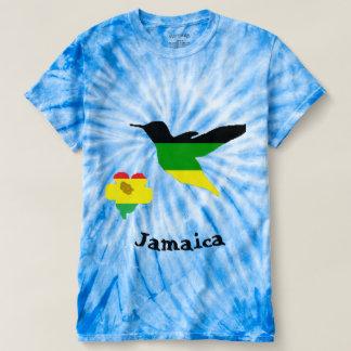Kolibri und Blume in der jamaikanischer und Rasta T-shirt