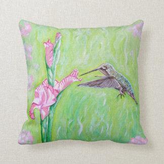 Kolibri und Gladioli Kissen