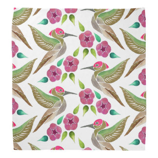Kolibri-und Petunie-abstrakte Malerei Halstuch