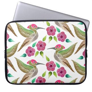 Kolibri-und Petunie-abstrakte Malerei Laptopschutzhülle