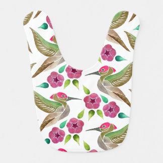 Kolibri-und Petunie-abstrakte Malerei Lätzchen