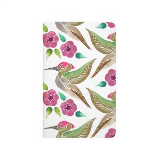 Kolibri-und Petunie-abstrakte Malerei Taschennotizbuch