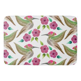 Kolibri-und Petunie-abstraktes Malerei-Muster Badematte
