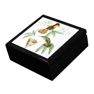 Kolibri-Vogel-Blumen-Blumentier-wild lebende Tiere Erinnerungskiste