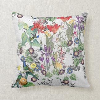 Kolibri-Vogel-Blumen-Gott-Liebethrow-Kissen Kissen