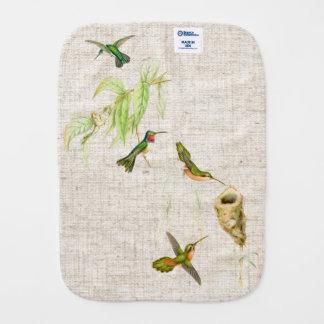 Kolibri-Vogel-Blumen-Tier-Tiere mit Blumen Spucktuch