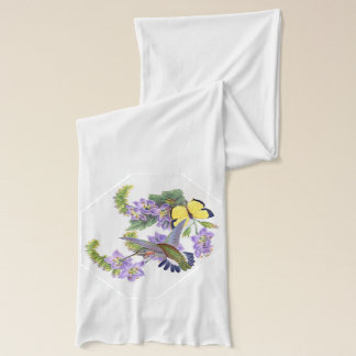 Kolibri-Vogel-Schmetterlings-BlumenBlumen-Schal Schal