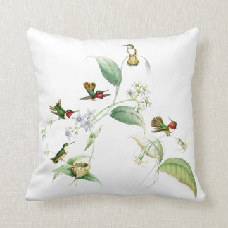 Kolibri-Vogel-Tier-Blumen-Tiere mit Blumen Kissen