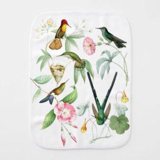Kolibri-Vogel-Tier-Tier-Blumen mit Blumen Baby Spucktuch