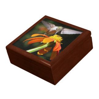 Kolibri-Vogel-Tierblumentier-Sonnenblume Schmuckschachtel
