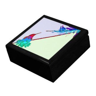 Kolibri-Vogel-Tierblumenwild lebende tiere Geschenkbox