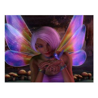 Kolibri-Wächter-feenhafte Fantasie-Kunst Postkarte
