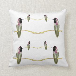 Kolibris Kissen-Zuhause Dekor-Weiß/Rosa/Grün Kissen