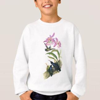 Kolibris und rosa Orchideen Sweatshirt