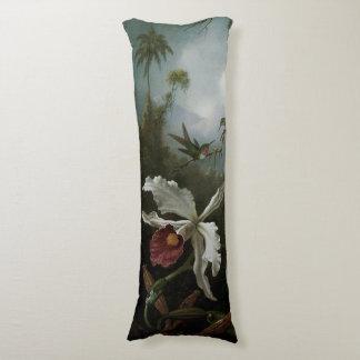 Kolibris und weiße Orchidee durch Martin J. Heade Seitenschläferkissen