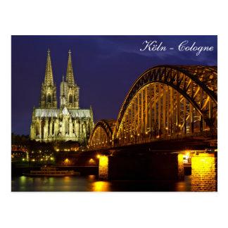 Köln - Kathedrale an der Dämmerungspostkarte Postkarte