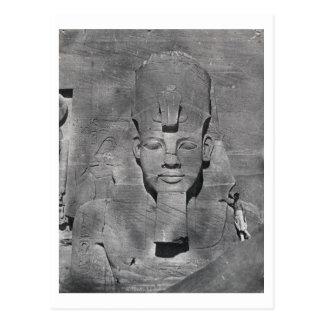 Kolossale Statue von Ramesses II bei Abu Simbel, Postkarte