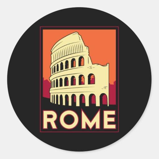 Kolosseum-Europas Roms Italien Vintage retro Reise Runde Aufkleber